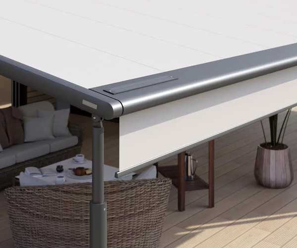 markilux pergola side profile